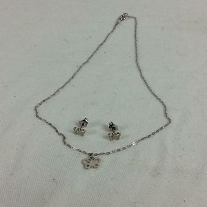 Vintage butterfly necklace and earring set
